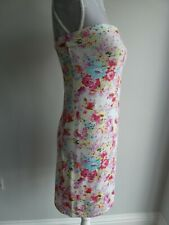 LADIES/TEENS FLORAL PRINT STRAPLESS SUN DRESS SUPERDRY SIZE L APPROX SIZE 12