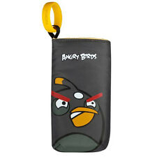 NOKIA CP-3007 ANGRY BIRDS UNIVERSAL SOFT POUCH CASE - BLACK BIRD