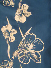 Gorgeous vtg silkscreen hibiscus Hawaiian-made shirt L or M by Hans Jutte