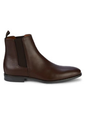 WEATHERPROOF Aquatalia Adrian Leather Chelsea Boots,Dress,Made in Italy,9M,Brown
