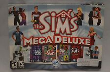 NEW The Sims Mega Deluxe (4 Games in 1) for PC in Original Big Box
