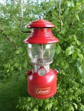 VTG Coleman Lantern Model 200A Red High Top Dated July 1954 (11-54) Yellow Lable