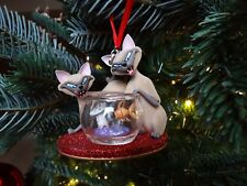 Disney Store Si Am Siamese Cats Ornament decoration Lady And The tramp Xmas