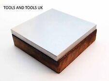 """Blocco banco in acciaio con base in legno 4"""" x 4"""" dapping gioielli forgiatura strumento NUOVO"""