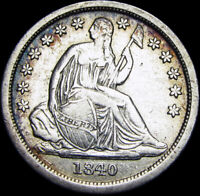 1840-O Seated Liberty Dime Silver Type US Coin --- RARE ---- #Z763