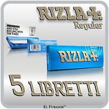 250 CARTINE RIZLA BLU CORTE - 5 Libretti - RIZLA BLUE Per SIGARETTE