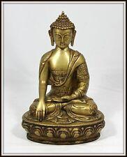 """Incredible Detail   """"Tibetan Bronze Buddha""""  (13"""" High x 9"""" Wide x 6"""" Deep)"""