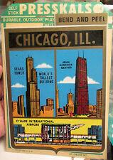 5 large 6x5 Impko Presskals window decals Chicago IL Sears Tower Airport Hancock
