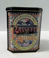 Vintage Bassetts Liquorice Allsorts empty Collector Tin Canister made in England