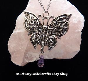 Morrigan's Moth Mythic Celts Pendant. Pagan/Wiccan/ Goddess.