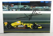 PHOTO cm 13x18 signed by Jean Alesi JORDAN EJ11 #12 USA GP INDIANAPOLIS F1 2001