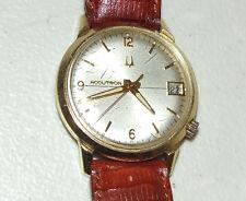 "Working 1969 BULOVA Accutron 2181 ""Time & Date"" Tuning Fork Men's Wrist Watch M9"