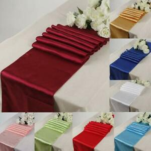1/5/10pcs Satin Table Runner for Wedding Festival Party Decorations 30 x 275CM