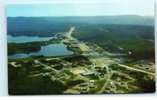 *Aerial View Watson Lake Yukon Canada Alaska Hwy Mile 632 Vintage Postcard B89