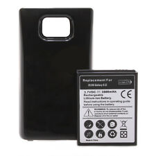 Samsung Galaxy S2 i9100 Power Akku Batterie 3500mAh Bumper Cover schwarz