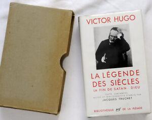 La Pleiade nrf Victor Hugo La légende des siècles La Fin De Satan Dieu 1950 Ex