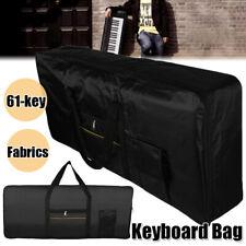 Portable Electronic 61Key Keyboard Piano Padded Case Gig Bag Fabric Organizer Us