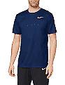 Nike Men's Dri-fit Breathe Running Top Navy Mens UK Size Extra Large (XL)