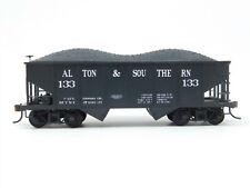 Ho Scale Bowser A&S Alton & Southern 2-Bay Hopper w/ Load #133