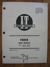 Ford 8000 8600 9000 9600  I&T tractor shop manual