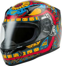 Fly Racing Revolt FS Codex Street Helmet Red/Blue/Yellow DOT Approved All Sizes