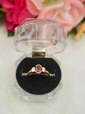 18ct Gold Diamond Dress Ring Ruby Stone(P15774-2)