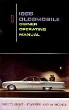 1966 Oldsmobile 98 88 Starfire Owners Manual User Guide Operator Book Fuses OEM