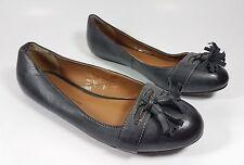Dorothy Perkins black leather flat tassel loafers uk 4 eu 37