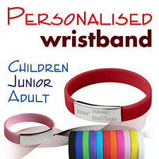 Personalised Metal/Silicone Wristbands * Adult * Children * Logo * Blood * Event