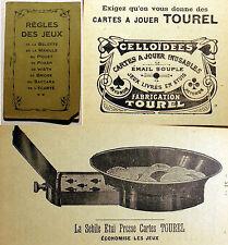 JEUX/DE CARTES/REGLES/MAISON TOUREL/AVIGNON/VERS 1930/BELOTTE/MANILLE/POKER