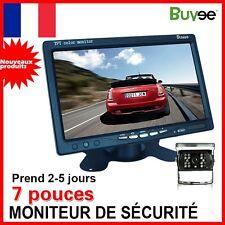 """Kit Caméra De Recul Étanche+ 7"""" TFT LCD Écran Moniteur Voiture Vision De Nuit FR"""
