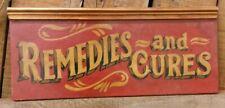 chemist pharmacy remedies poison bottle vintage antique apothecary wood sign