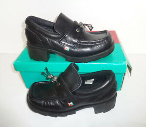 POD New Leather Ladies Boots Chunky Retro School Girls Shoes RRP £50 UK Size 2