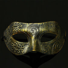 Men Burnished Antique Masquerade Party Ball Mask Silver/Gold Venetian Mardi Gras