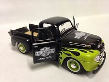 "Harley Davidson 1948 Ford F-1 Pickup Collectors 8"" Diecast 1:24 Maisto Toy Green"