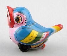 Noguchi (Japan) Tinplate Friction Drive Baby Bird/Chick (Blue)
