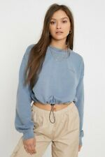 Urban Outfitters Bubble Hem Crew Neck Sweater In Blue / Large