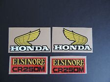 1975 Honda CR 250 Elsinore Gas Tank And Side Panel Decal Set Vintage Motocross