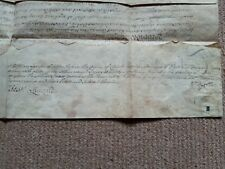 More details for 1782 vellum indenture charles holland of rochdale william egerton of tatton park