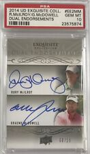 Rory McIlroy Graeme McDowell 2013-14 Exquisite Collection Rookie Auto /15 PSA 10