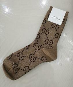 GUCCI Cotton Blend Socks One size Brown