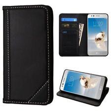 Fundas y carcasas transparente de color principal negro de piel para teléfonos móviles y PDAs