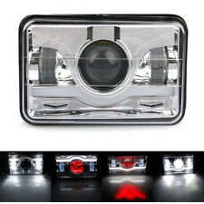 "1 x 4x6"" Cree LED Projector Headlight Headlamp Sealed Beam  Silver Truck Pair"
