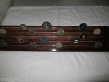 Military Challenge Coin Display Holder 5 Tiers - 2 footer -Dark Cherry Stained