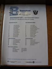 26/01/2013 Birmingham City Youth v Nottingham Forest Youth [At Wast Hills] (Colo