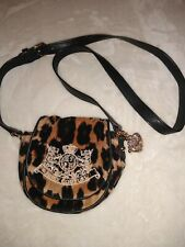 """Juicy Couture Leopard Print Purse ~ Small ~ with """"J"""" and Heart Shaped Charm"""