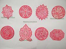 8 x Henna Reusable Rubber Stencils Henna Temporary Tattoo Body Art Design Kit