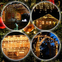 Fairy Icicle LED String Curtain Lights Christmas Tree Lighting Party Decor
