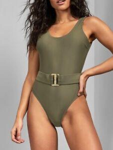 BNWT Ted Baker Telmora Belted Swimsuit - Khaki - Size 3
