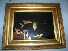 Asian painting panel wood gloss